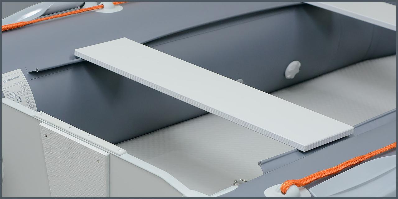 Фанерна банку для надувних човнів Kolibri КМ-400DSL, КМ-450DSL світло-сіра