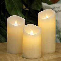 Электронные свечи с имитацией пламени набор 3 единицы