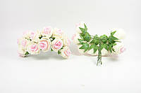 Розы 2.5 см с бежевым