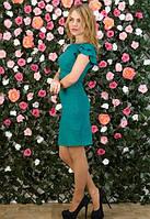 Женское зеленое платье,женское платье с открытой спинкой,короткое платье