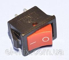 Выключатель KCD1-11 (SMRS-101) красный 1-группа ON-OFF  11-0470
