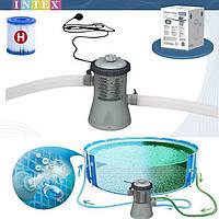 Фильтр-насос для очистки воды в бассейне Intex диаметром 244-305 см 1250 Л / Ч Фильтрующий насос
