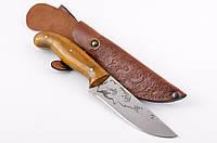 Нож охотничий ручной работы Щука с кожаным чехлом + эксклюзивные фото