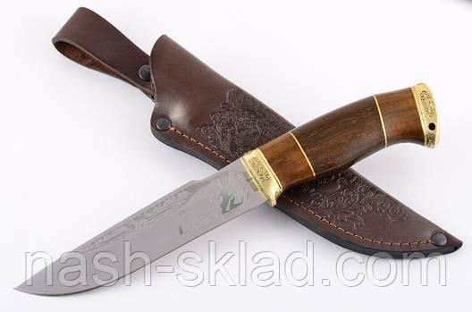 Нож охотничий ручной работы Волк элитный, кожаный чехол в комплекте + эксклюзивные фото, фото 2