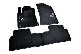 Ворсовые коврики Peugeot 508 (2010-) /Чёрные 5шт AVTM BLCCR1481