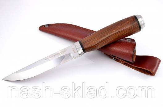 Нож охотничий Сокол, рукоять из дерева Венге, с  эксклюзивными фотографиями, фото 2