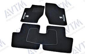 Ворсовые коврики Peugeot 307 (2001-2008) /Чёрные 5шт AVTM BLCCR1470