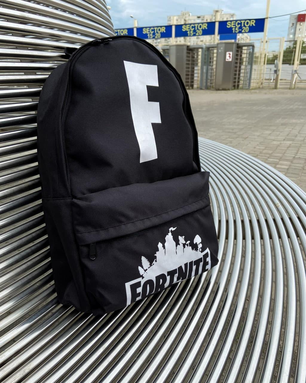 Рюкзак чоловічий чорний водонепроникний з малюнком Standart - Fortnite