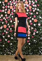 Женское платье в трех цветах,короткое женское платье