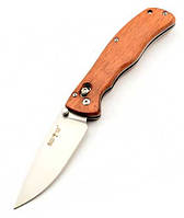 Складной нож из рукоятью Розового дерева + клипса для ремня, мощный и практичный, эксклюзивные фото