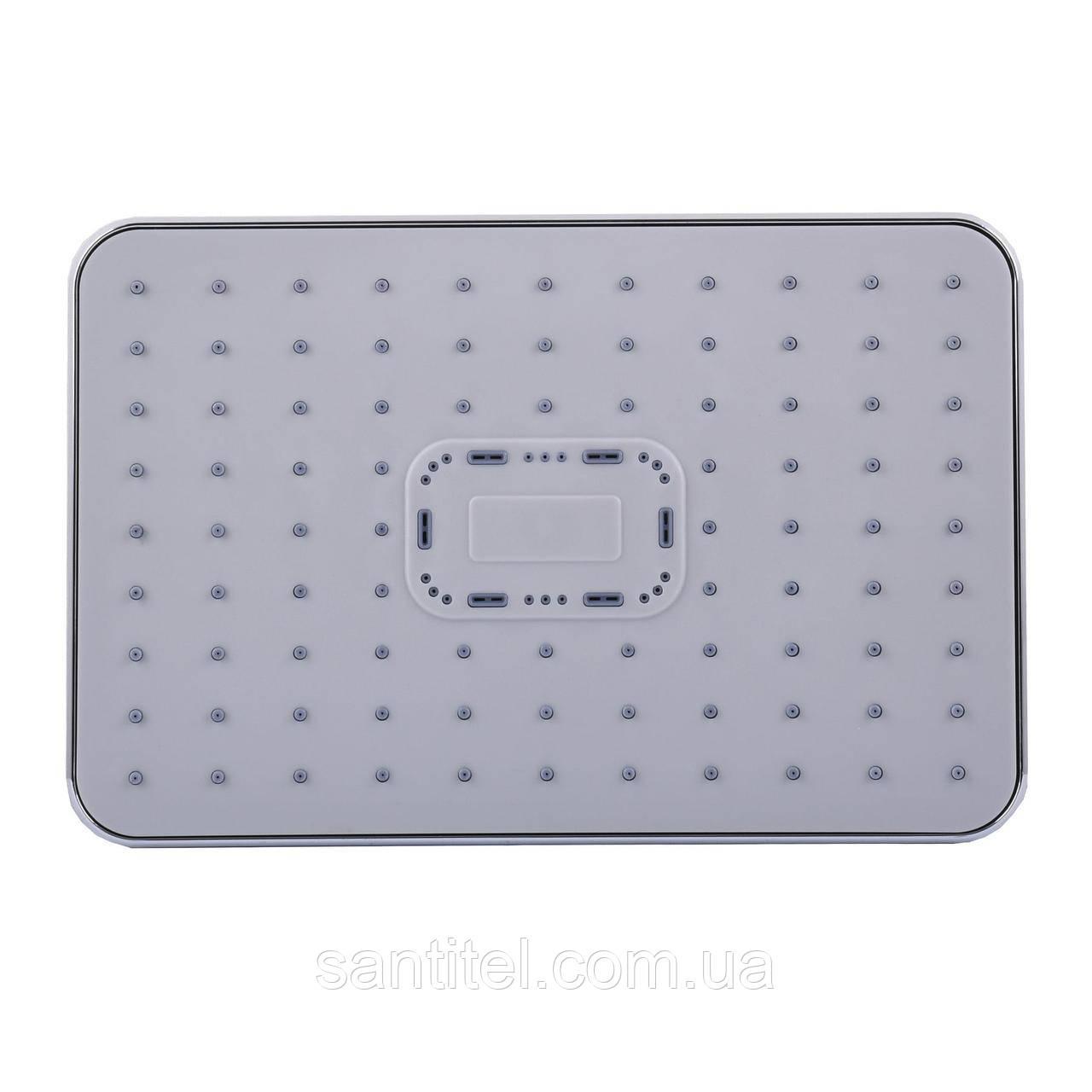 Душова лійка Globus Lux SD-003-30-00 Тропик 300*200мм,Хром, Пласт.,в коробці