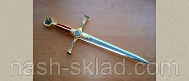 Кинжал масонский, символ могущества и богатства + подставка