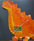 Шар из пленки большая фигура Динозавр оранжевый 95х50см Китай, фото 2