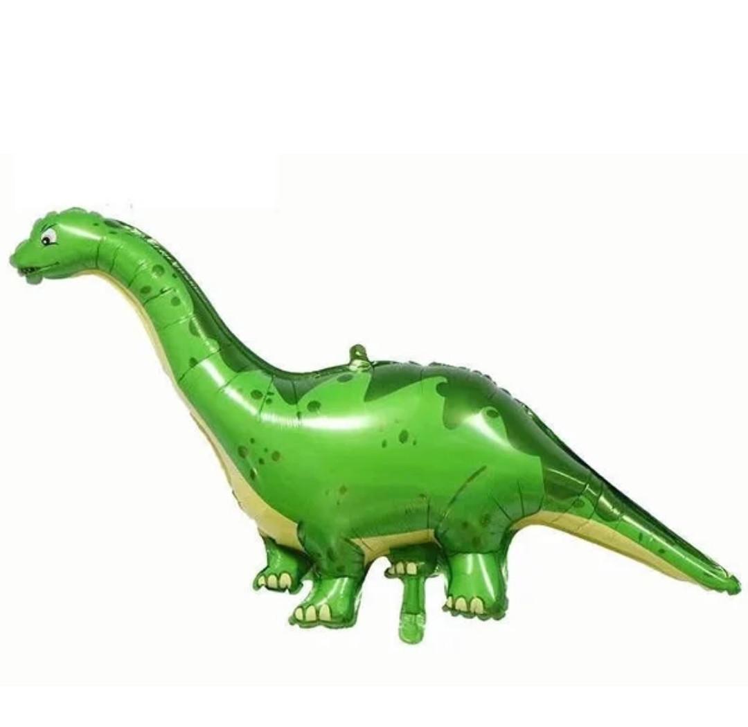 Фольгована кулька велика фігура Динозавр зелений 118х46см Китай