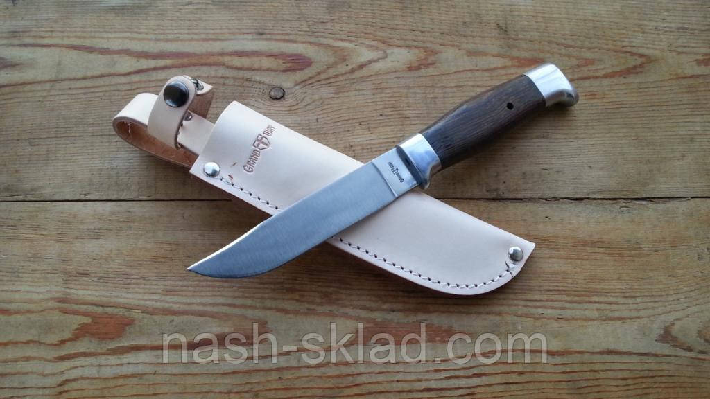 Нож охотничий Финка, кожаный чехол в комплекте
