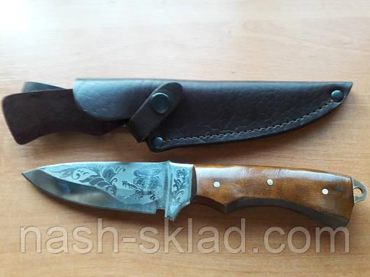 Нож охотничий Крокодил, ручная работа, кожаный чехол в комплекте, фото 2
