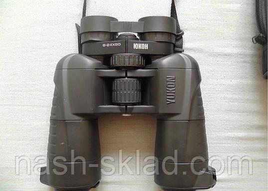 Бинокль Yukon 8-24x50 с переменной кратностью, производства Беларусь, ударопрочный и надежный, фото 2