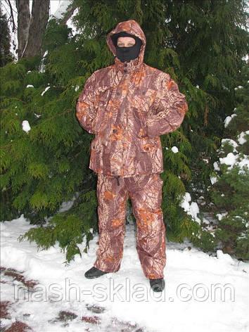 Зимний костюм для рыбалки расцветка Лес , утепленный, фото 2