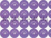 """Наклейки на патроны """"10"""" (диам. 18 мм, 54 шт. на листе), лист"""