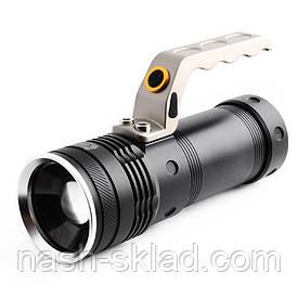 Led-фонарь переносной Police, максимальная и средняя яркость, стробоскоп, оптический зум,