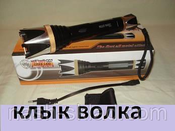 Электрошокер Wolf, Клык Волка, мощный шокер-фонарь 70000KV, фото 2