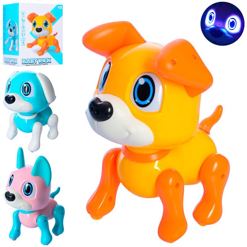 """Інтерактивна іграшка 881 """"Собачка"""" сенсорна, звук, світло, 3 кольори"""