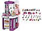 Дитяча ігрова кухня 922-49, звук, світло, тече вода, в коробці, на 49 предмета, фіолетова, фото 3