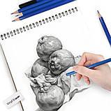 Набір олівців для малювання в нейлон професійний 95 предметів Олівці для скетчінга з альбомом, фото 4