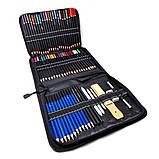 Набір олівців для малювання в нейлон професійний 95 предметів Олівці для скетчінга з альбомом, фото 9