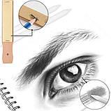 Набір олівців для малювання в нейлон професійний 95 предметів Олівці для скетчінга з альбомом, фото 10