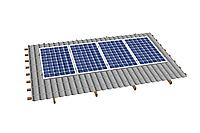 Комплект на 4 модуля металлочерепичную скатную крышу.