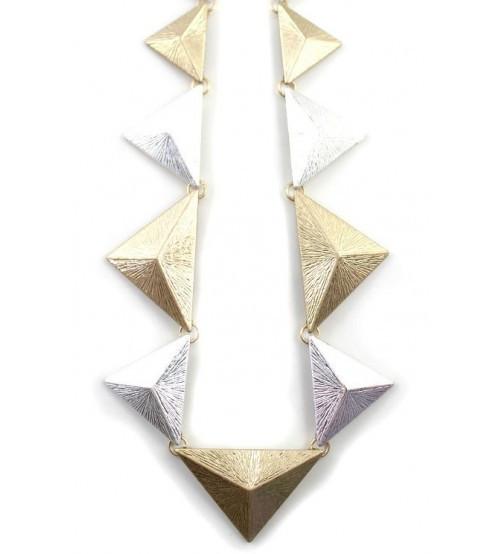 Колье металлические треугольники