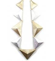 Колье металлические треугольники, фото 1