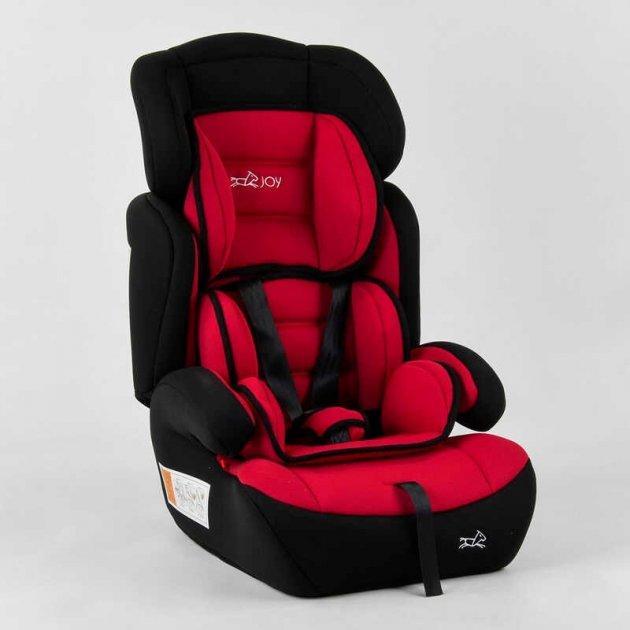 Универсальное автомобильное кресло с откидной спинкой и съемным вкладышем JOY 20545 (9-36 кг), красное