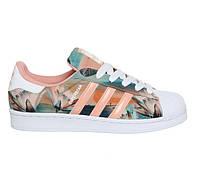 Женские кроссовки Adidas Superstar Print Pink розовые, фото 1