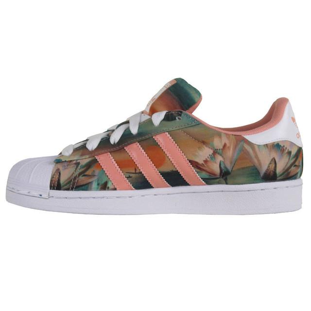 Женские кроссовки Adidas Superstar Print Pink розовые