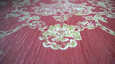 Виниловые обои Carnaby с рисунком красного цвета на бумажной основе. Артикул 42638
