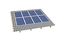 Комплект на 8 модулей на металлочерепичную скатную крышу.
