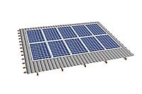 Комплект на 10 модулей на металлочерепичную скатную крышу.