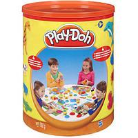 Набор теста и формочек от Play Doh в ведре - 13 баночек