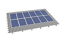 Комплект на 12 модулей на металлочерепичную скатную крышу.