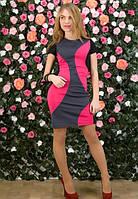 Женское платье,женское платье трехцветное,короткое женское платье