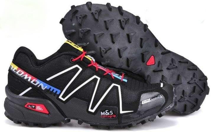 Кроссовки для бега Salomon Speedcross 3,черно белые с красным