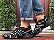 Кроссовки для бега Salomon Speedcross 3,черно белые с красным, фото 2