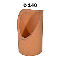 Патрубок для подключения к керамической дымоходной трубе 45° Wolfshöher Tonwerke Ø140