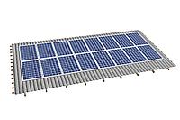 Комплект на 16 модулей на металлочерепичную скатную крышу.