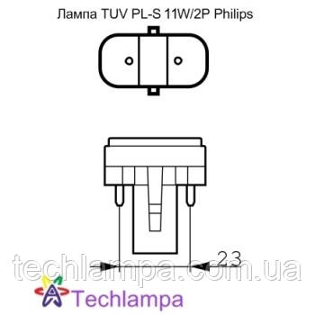 Лампа бактерицидная TUV PL-S 11W/2P Philips