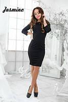 Платье женское черное,с открытой спинкой, платье женское облегающие