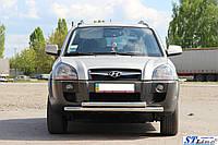Защита переднего бампера (кенгурятник) Hyundai Tucson (2004-) / ус двойной