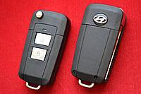 Выкидной ключ Hyundai для переделки 2 кнопки Вид Пластик